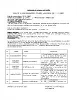 Compte rendu du Conseil Municipal du 12/12