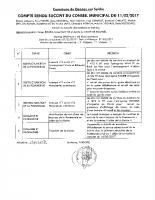 Compte rendu du Conseil Municipal du 11/02
