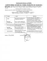 Compte rendu du Conseil Municipal du 25/08