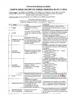 Compte rendu du Conseil Municipal du 07/11